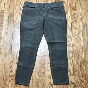 J Crew Toothpick Skinny Corduroy Pants 32 Ankle B5